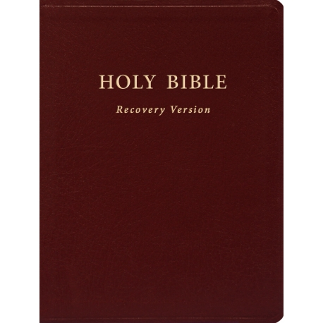 """Holy Bible Recovery Version (Text only, Burgundy, Bonded leather, 6 1/4"""" x 8 1/4"""")"""