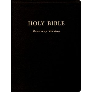 "Holy Bible Recovery Version (With footnotes, Black, Bonded leather, 10"" x 7 1/8"")"