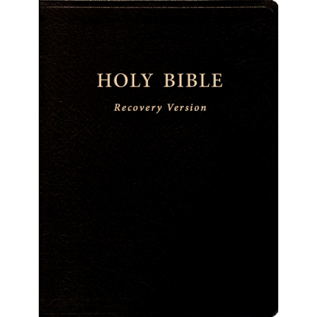"""Holy Bible Recovery Version (With footnotes, Black, Bonded leather, 10"""" x 7 1/8"""")"""