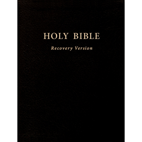 """Holy Bible Recovery Version (With footnotes, Black, Hardbound, 10"""" x 7 1/8"""")"""