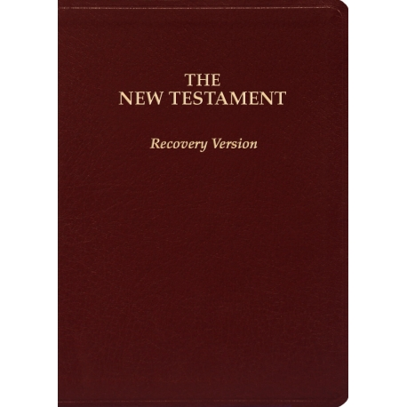 """New Testament Recovery Version (Burgundy, Bonded leather, Small, 7"""" x 4 7/8"""")"""