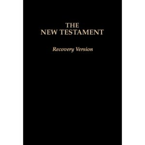 "New Testament Recovery Version (Black, Economy w/footnotes, Softbound, 6 3/4"" x 4 1/2"")"