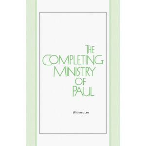 Completing Ministry of Paul, The