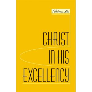 Christ in His Excellency