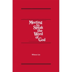 Meeting to Speak the Word of God