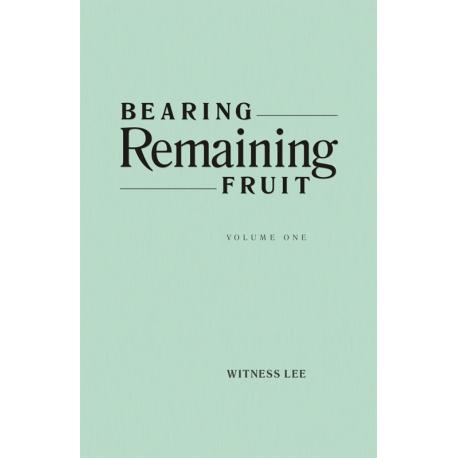 Bearing Remaining Fruit, Vol. 1