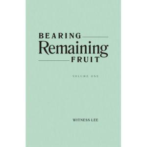Bearing Remaining Fruit (2 volume set)