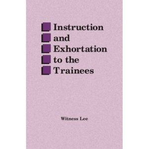 Instruction and Exhortation to the Trainees