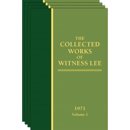 Collected Works of Witness Lee, The (1971) Vol. 1 - 4