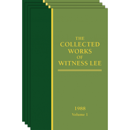 Collected Works of Witness Lee, The, (1988) Vol. 1 - 4