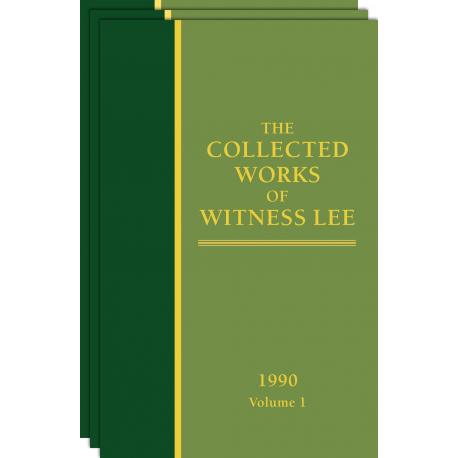 Collected Works of Witness Lee, The, (1990) Vol. 1 - 3